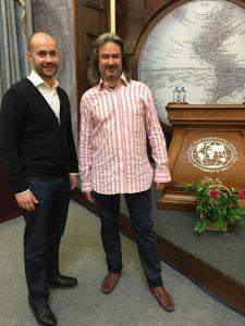 Андрей Леонтьев делится опытом с нашим экспедиционным штабом